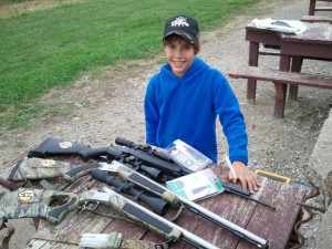 Andrew O'Day Getting ready to load and shoot his CVA Muzzleloaders